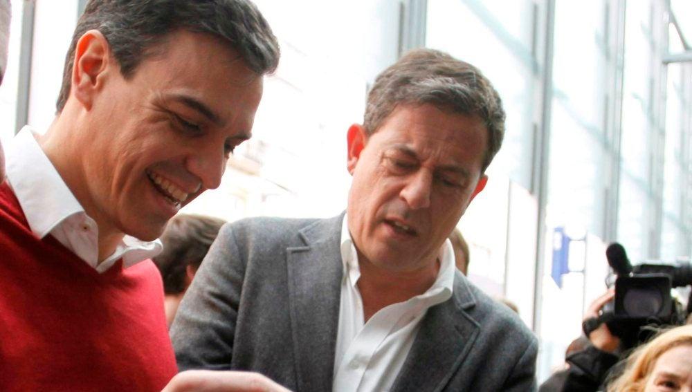 José Ramón Gómez Besteiro, en un acto junto a Pedro Sánchez