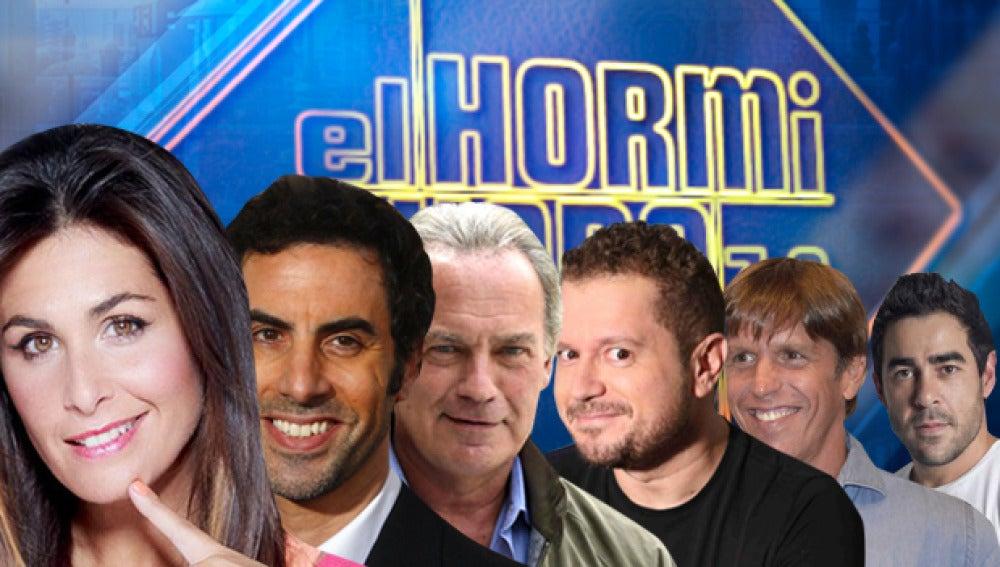 Pablo Chiapella, Bertín Osborne, Nuria Roca, 'El Cordobés' y 'El Monaguillo' y Sacha Baron Cohen en 'El Hormiguero 3.0'
