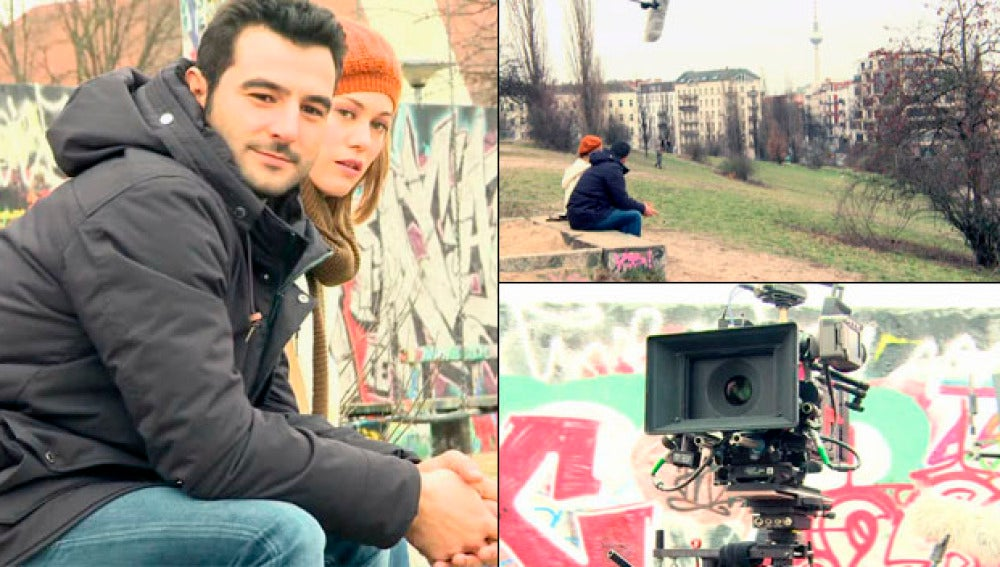 Nos fuimos hasta Berlín para grabar el 'casi' beso de Álex y Ulrike