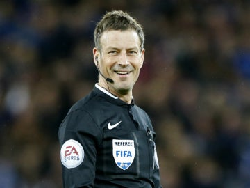 Mark Clattenburg, durante el Leicester - West Bromwich