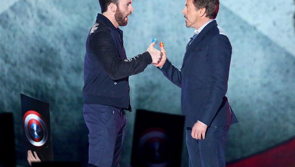 El pulso chino de Chris Evans y Robert Downey Jr.