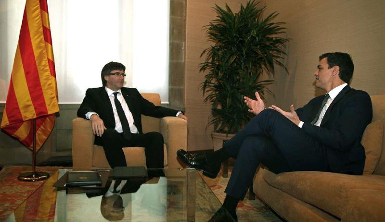 Carles Puigdemont y Pedro Sánchez