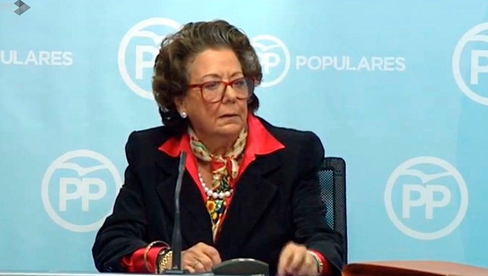 Rita Barberá, en rueda de prensa