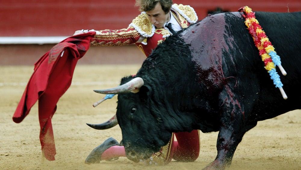 El torero valenciano Román, único matador de toros que cortó una oreja