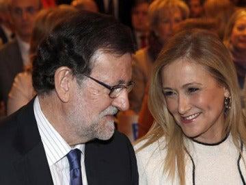 Mariano Rajoy y Cristina Cifuentes en una convención sobre empleo