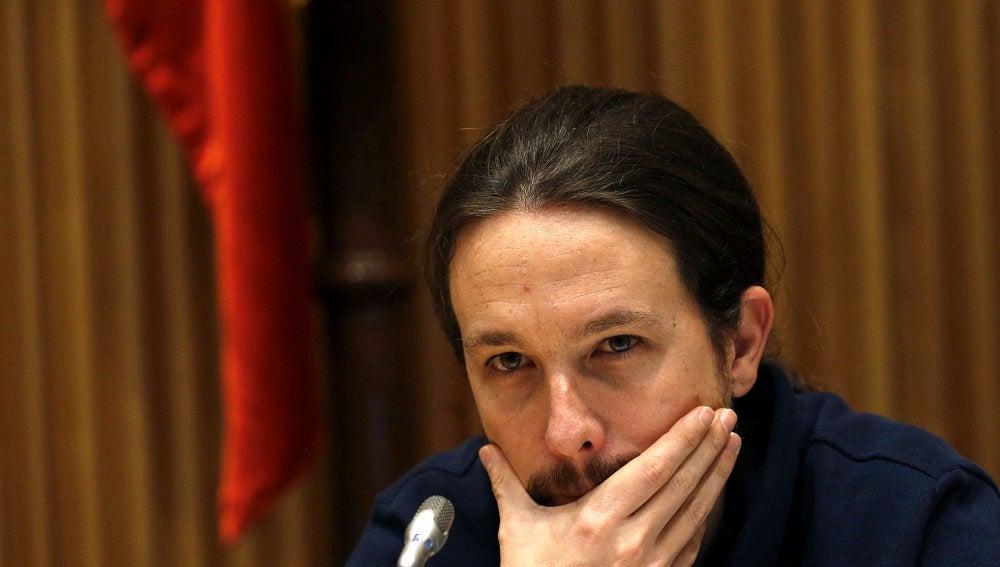 El secrerario general de Podemos, Pablo Iglesias