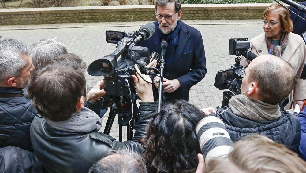 El presidente de Gobierno español en funciones, Mariano Rajoy