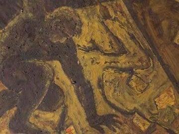 Fragmento del cuadro 'Furor Penellis', del artista mallorquín Miquel Barceló, hallado en un almacén en Suiza