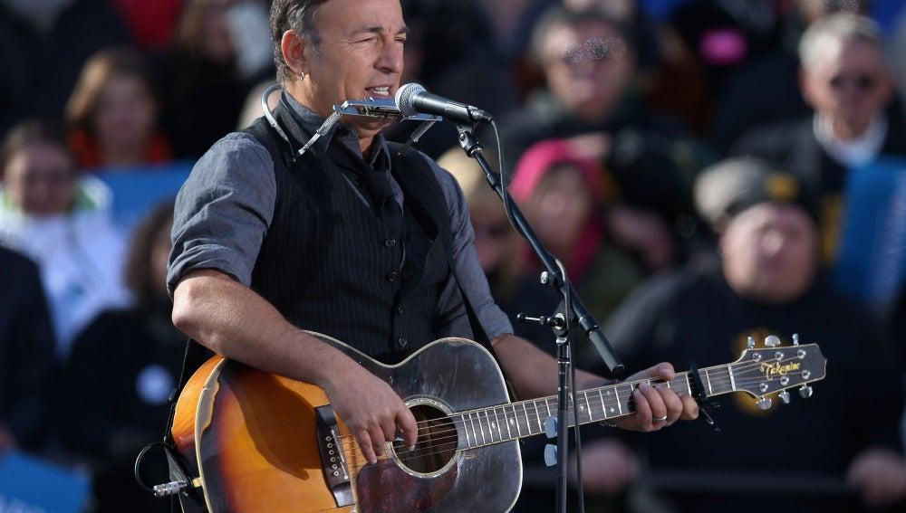 Bruce Springsteen en un concierto