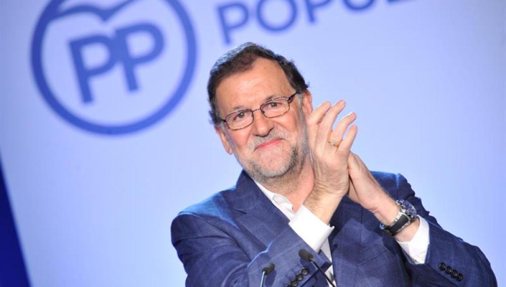Rajoy en un acto de NNGG en Toledo