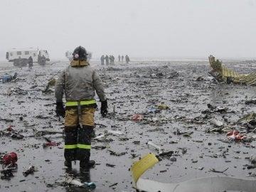 Zona donde se produjo el accidente del avión de Flydubai