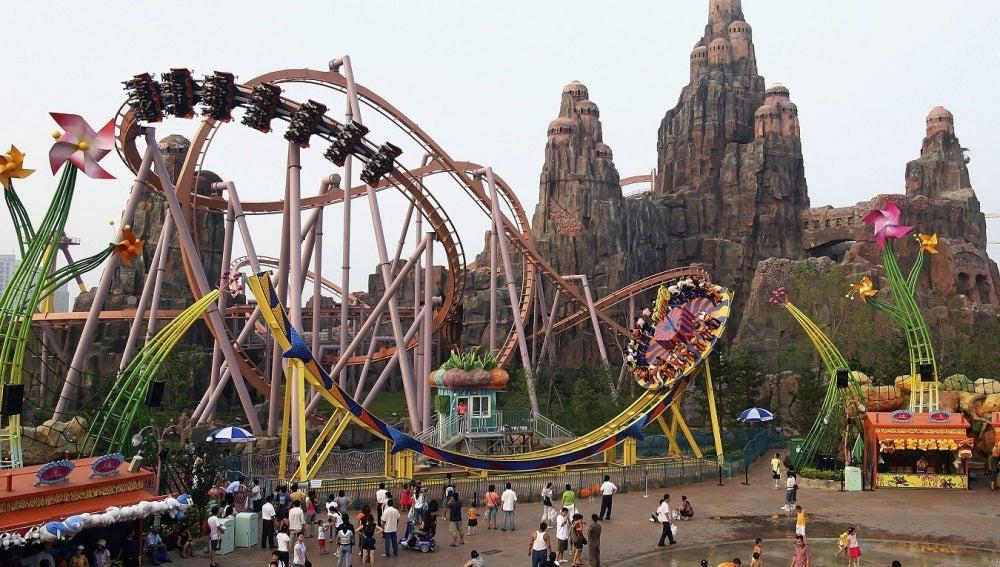 El parque de atracciones Happy Valley en Pekín