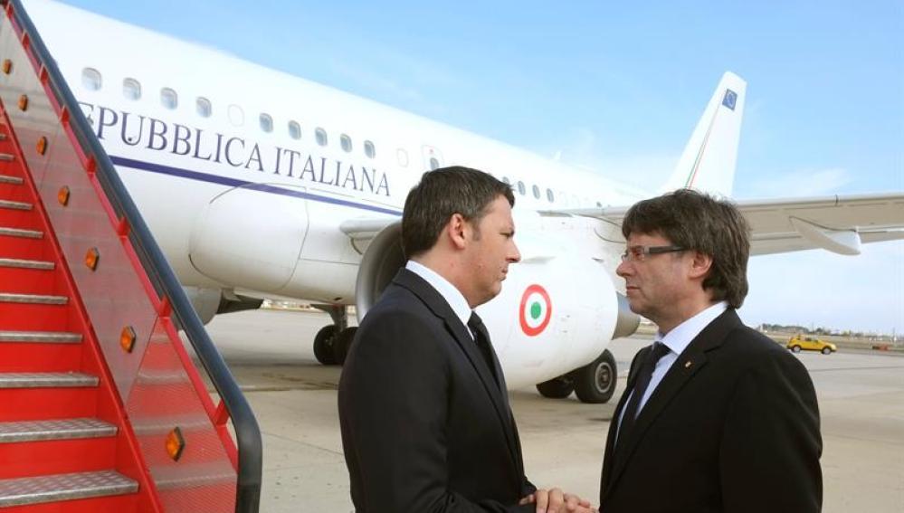 Puigdemont recibe a Renzi en Reus
