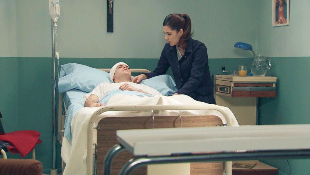 Sofía y Guillermo en el hospital