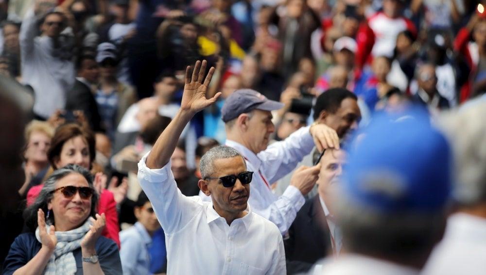 Barack Obama, durante su visita a Cuba