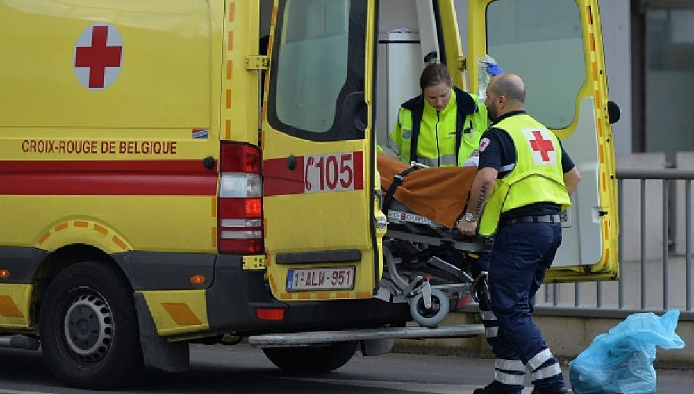 Una ambulancia en Bruselas