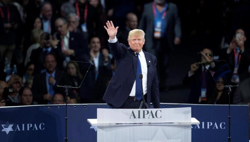 El precandidato republicano presidencial Donald Trump