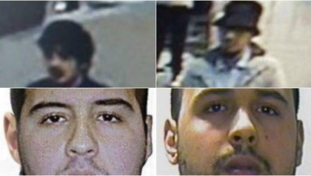Los presuntos autores de los atentados en Bruselas