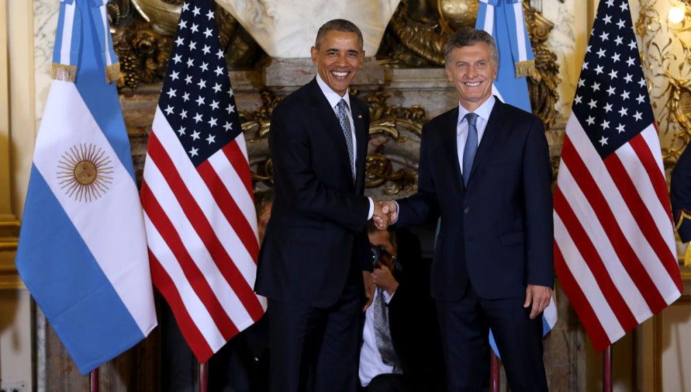 Barack Obama y Mauricio Macri