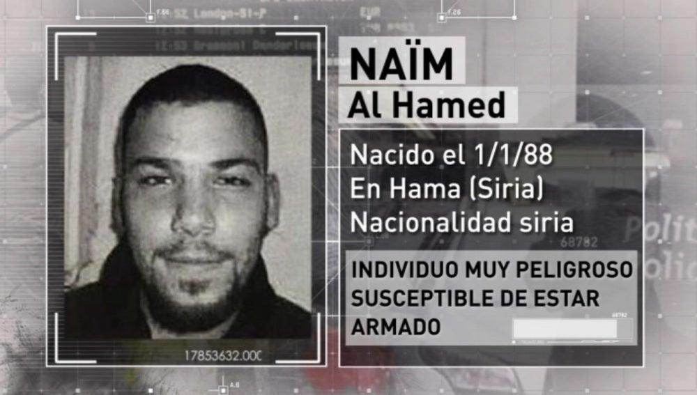 Naïm al Hamed, presunto terrorista sirio buscado por la Policía belga y gala