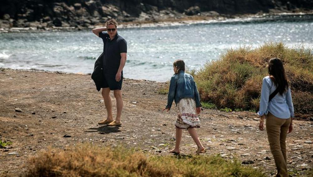 David Cameron con su familia en Lanzarote