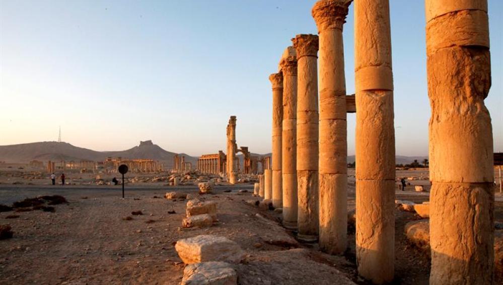 Ciudad histórica de Palmira, en el centro de Siria