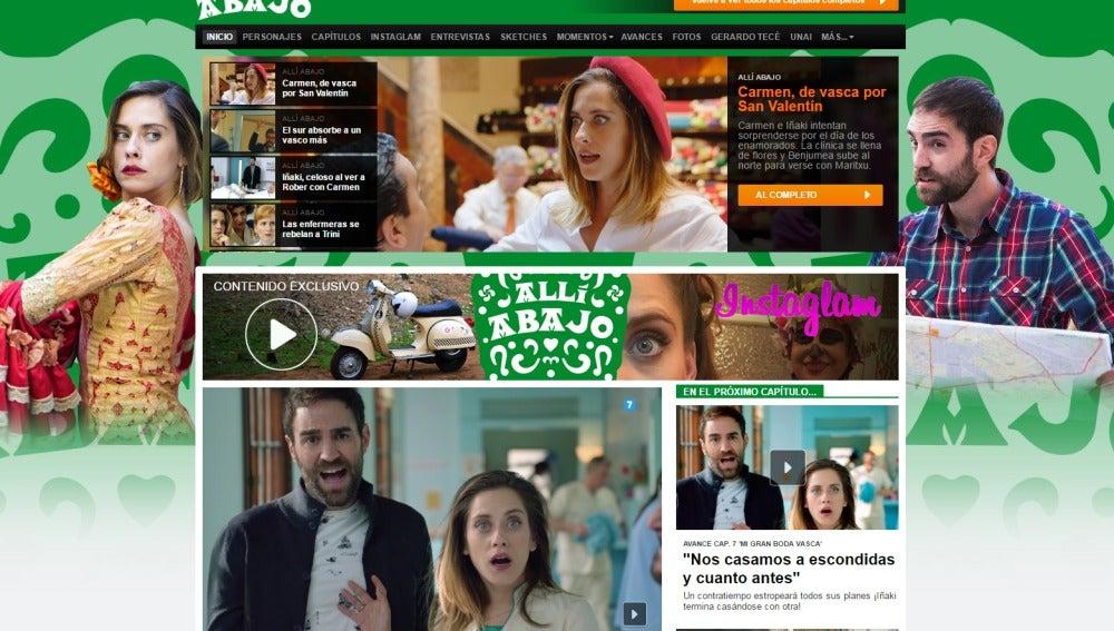 Web de Allí Abajo en antena3.com
