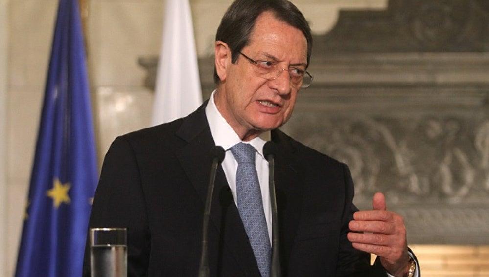 El presidente de Chipre, Nikos Anastasiadis