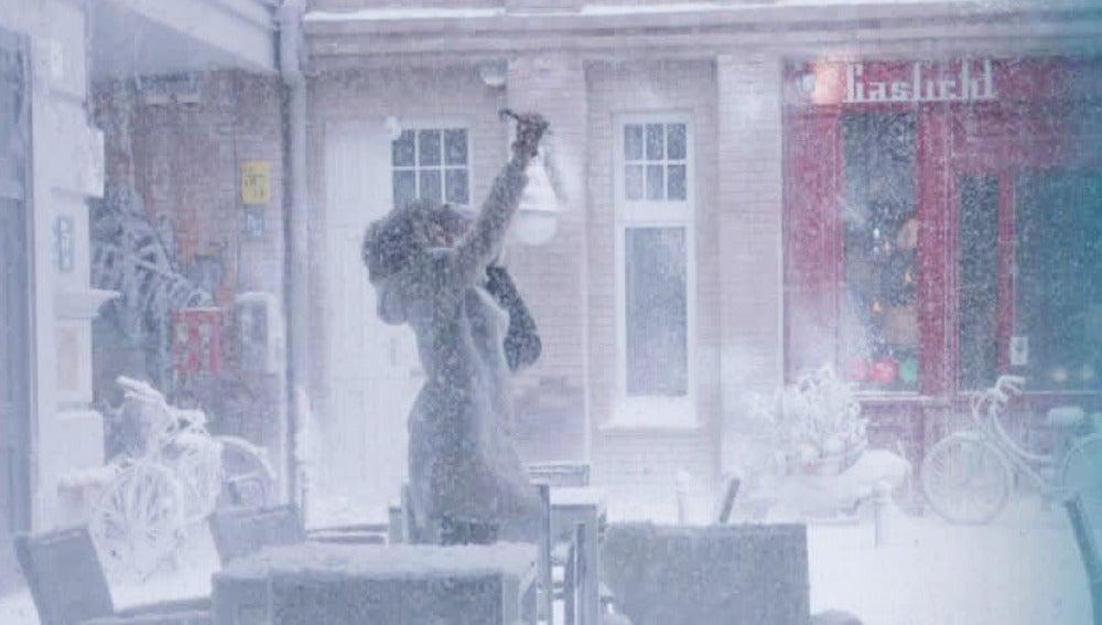 Una tormenta de nieve llega a Berlín