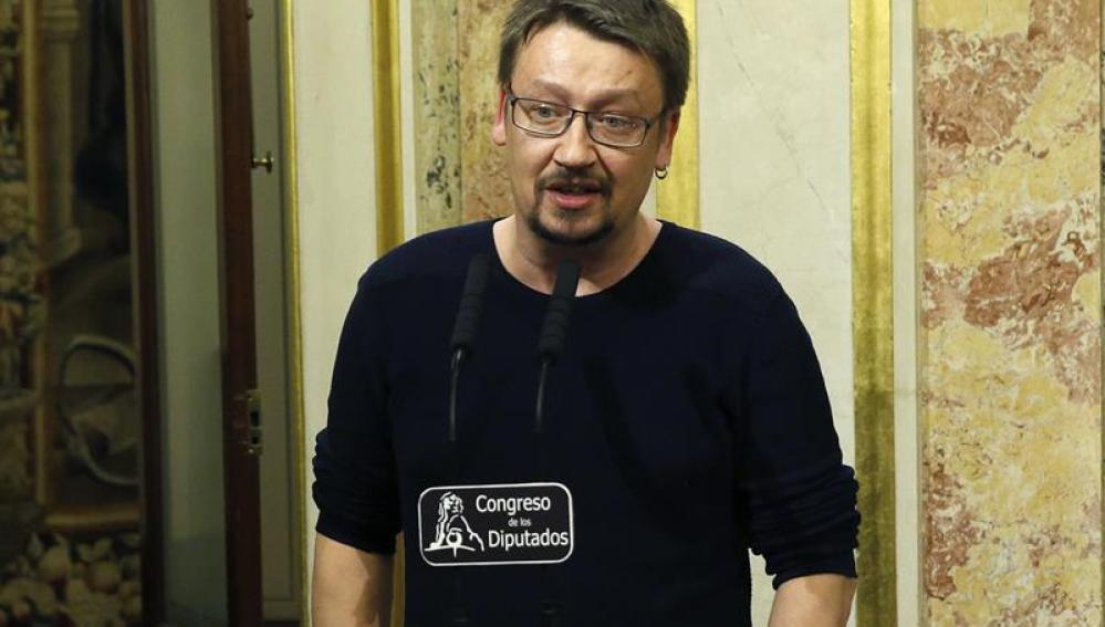 El portavoz de En Comú Podem en el Congreso, Xavier Domènech