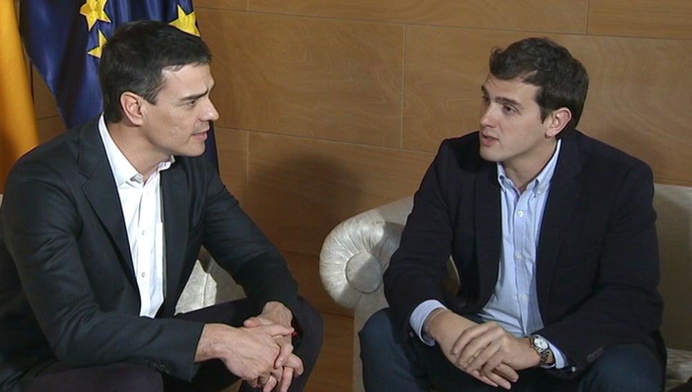 Reunión entre Pedro Sánchez y Albert Rivera