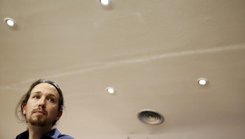 Pablo Iglesias durante su comparecencia