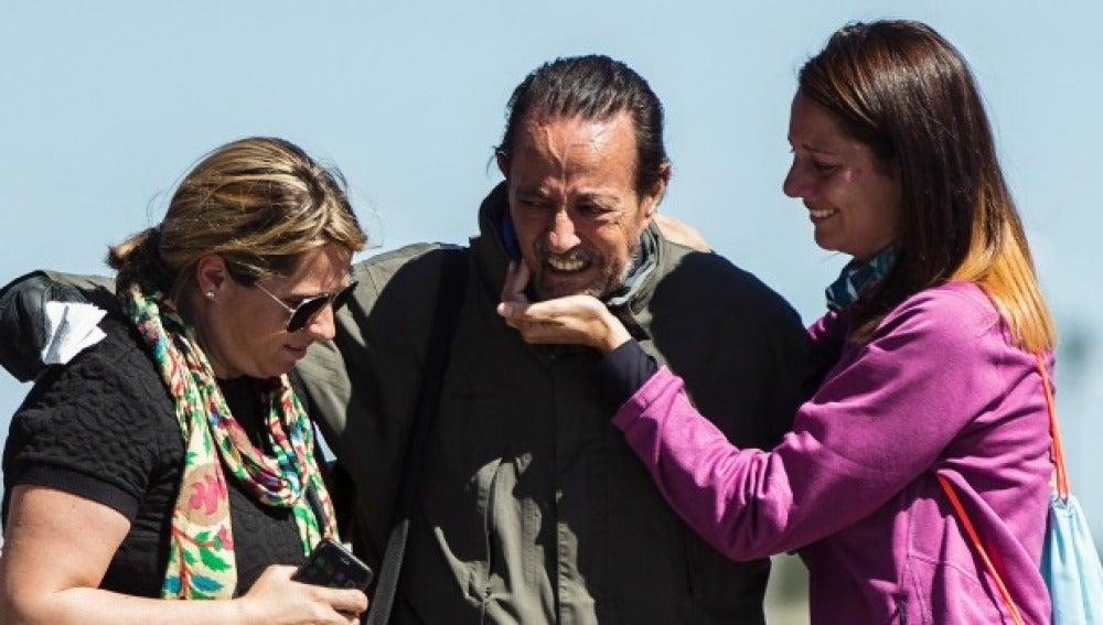 Julián Muñoz a su salida de la cárcel