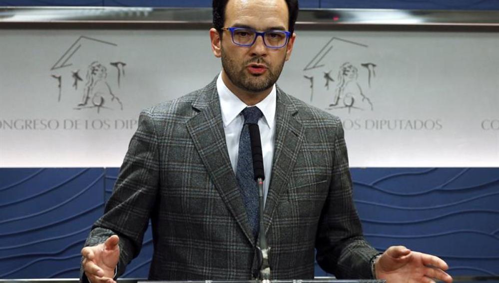 El portavoz del Congreso en el PSOE, Antonio Hernando