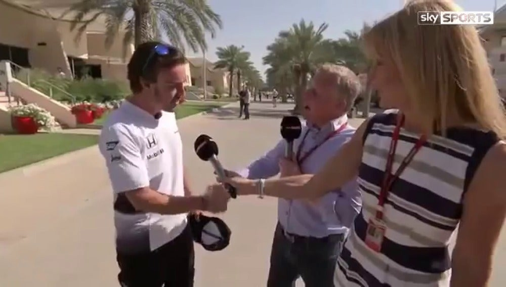 Fernando Alonso contesta a Johnny Herbert