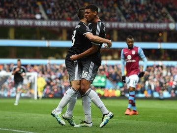El Chelsea celebra su goleada.