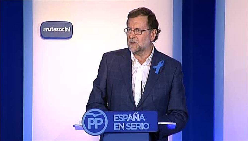 Mariano Rajoy durante el acto del PP en Sevilla