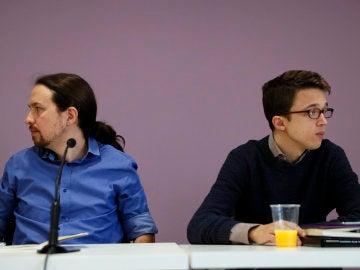 Pablo Iglesias e Íñigo Errejón, en el Consejo Ciudadanos de Podemos