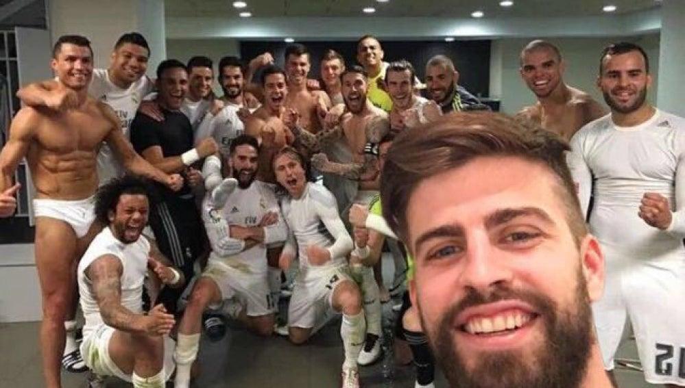 Piqué, 'infiltrado' en el vestuario del Madrid tras el Clásico