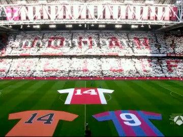 Homenaje a Cruyff en el Ámsterdam Arena.