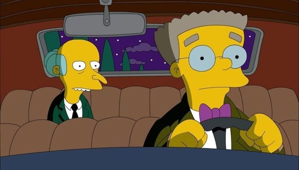 Smithers y el Señor Burns