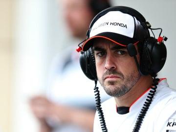 Fernando Alonso, durante el GP de Baréin