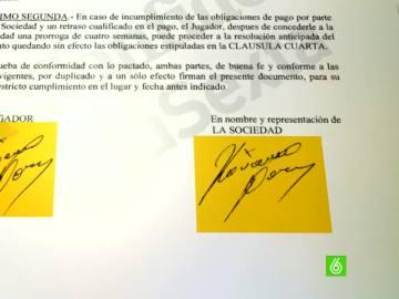 La firma de Darko Kovacevic, en los papeles de Panamá