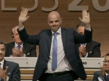 Gianni Infantino, durante un acto de la FIFA