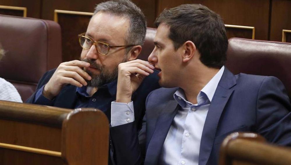 Albert Rivera y el portavoz en la cámara, Juan Carlos Girauta
