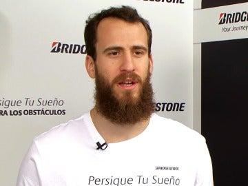 Sergio Rodríguez, durante una entrevista