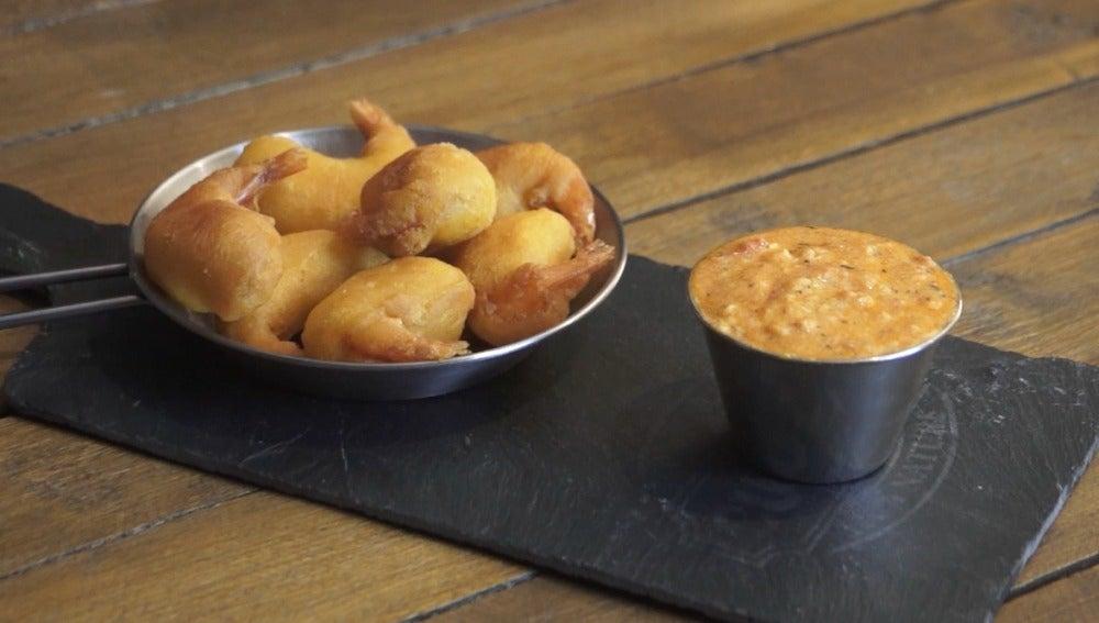 Una salsa cajún y gambas. Ñami ñami