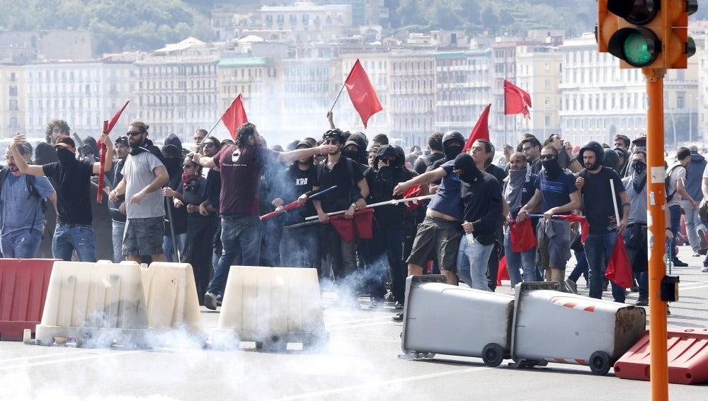 Disturbios en Nápoles