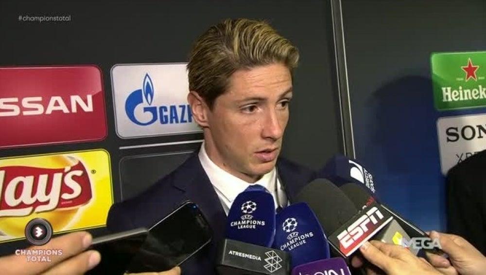Fernando Torres atiende a los medios de comunicación