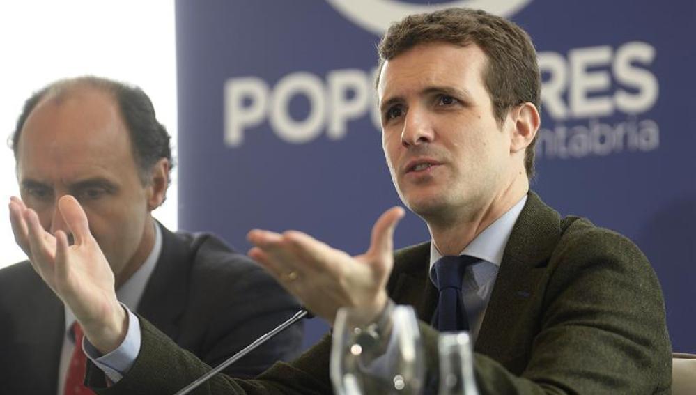 Pablo Casado en una intervención en Santander